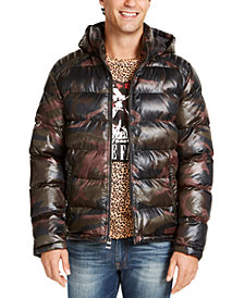 GUESS Men's Hooded Puffer Coat