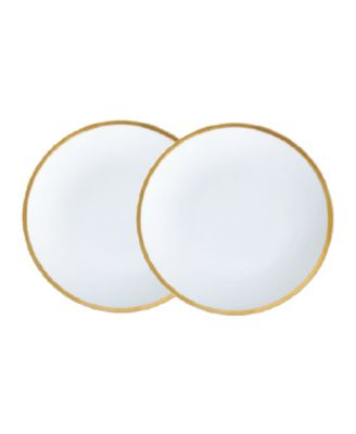 "Golden Edge 8"" Salad Plates - Set of 2"