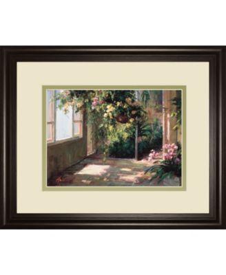 """Atriums First Light Il by Hali Framed Print Wall Art - 34"""" x 40"""""""