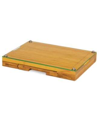 Picnic Time Concerto Glass Top Cutting Board with Cheese Tools