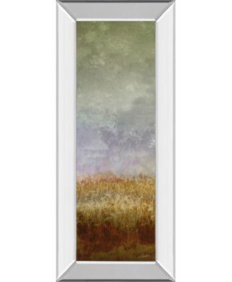 "Lush Field Il by John Butler Mirror Framed Print Wall Art - 18"" x 42"""