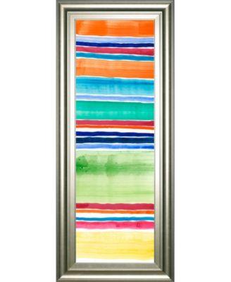 "Cabana Panel III by Regina Moore Framed Print Wall Art - 18"" x 42"""