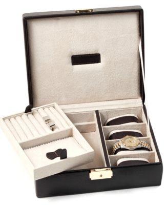 Bey-Berk Leather Valet Box
