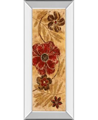 """Touch of Honey Il by Maria Donovan Mirror Framed Print Wall Art - 18"""" x 42"""""""