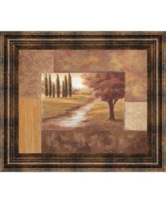 "Peaceful Stream Il by Vivian Flasch Framed Print Wall Art - 22"" x 26"""