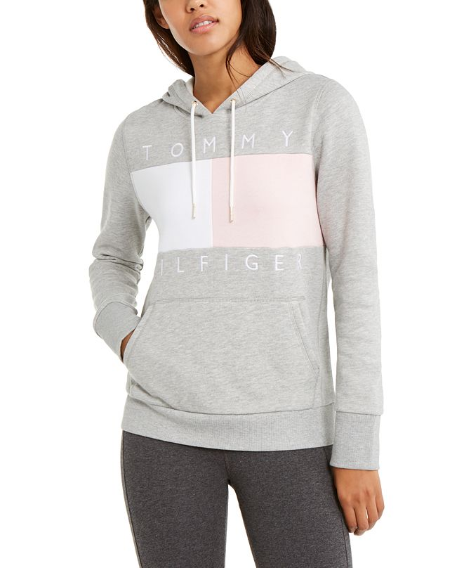 Tommy Hilfiger Colorblock Logo Hooded Sweatshirt, Created for Macy's