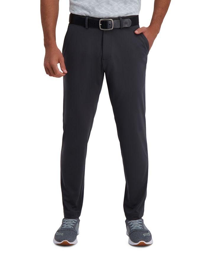 Haggar - Men's Active Series Slim-Fit Stretch Solid Casual Pants