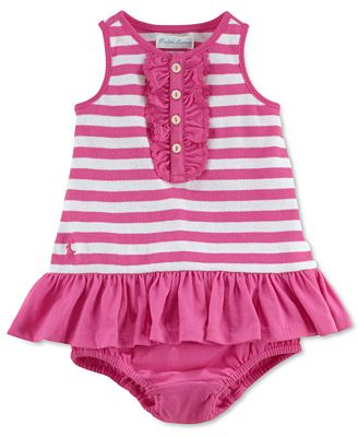 Ralph Lauren Baby Dress, Baby Girls Henley Ruffle Dress