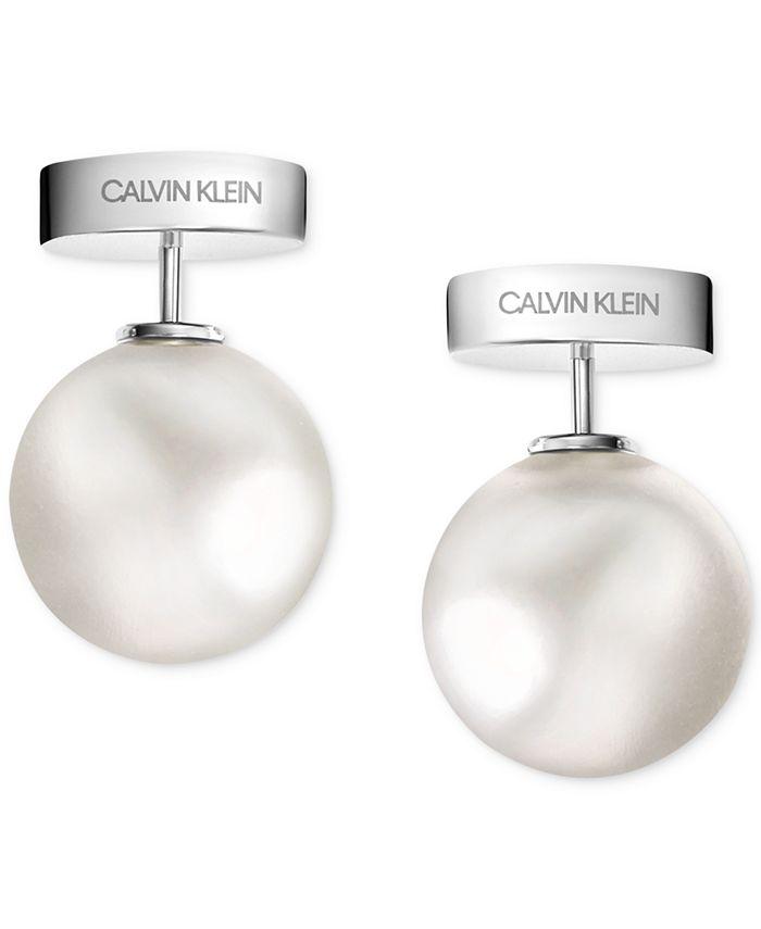 Calvin Klein - Bubbly Stainless Steel Pearl Stud Earrings