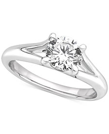 GIA Certified Diamond Solitaire Engagement Ring (1 ct. t.w.) in 14k White Gold