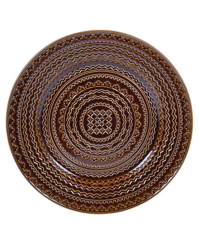 Certified International - Aztec Brown Round Platter