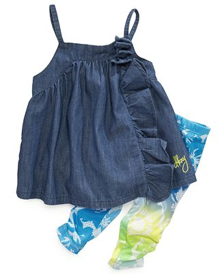 DKNY Kids Set, Little Girls Two-Piece Tank and Leggings