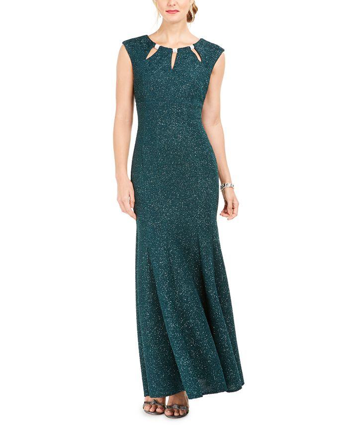 R & M Richards - Embellished Keyhole Mermaid Gown
