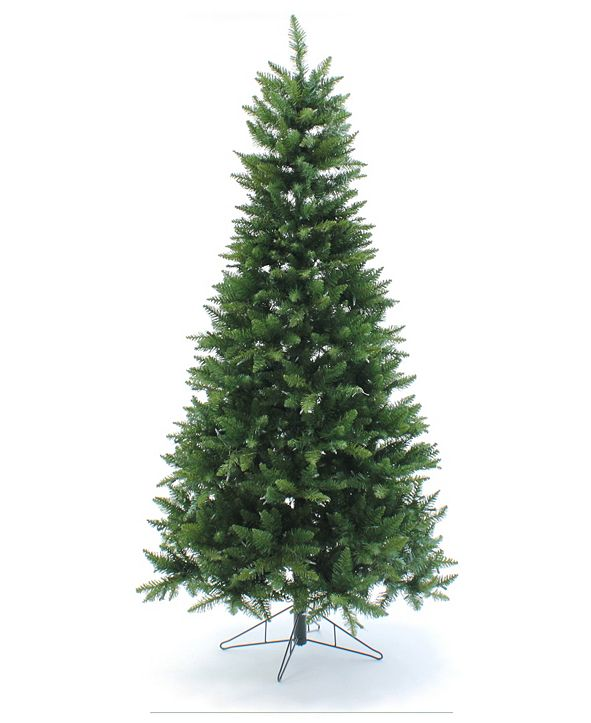 Perfect Holiday Pre-Lit Slim Christmas Tree with Warm White LED Lights Collection