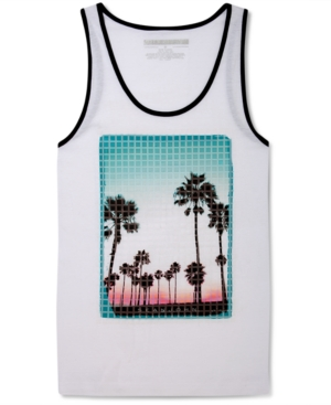 Sean John TShirt Palm Tree Sunset Tank Top