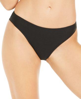 Juniors' Rhythm Rib Solid Hipster Bikini Bottoms, Created for Macy's