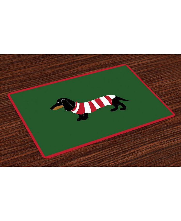 Ambesonne Dachshund Place Mats Set Of 4 Reviews Table Linens Dining Macy S