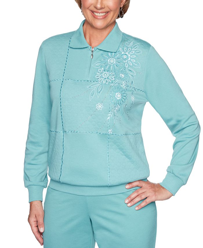 Alfred Dunner - All About Ease Embellished Sweatshirt