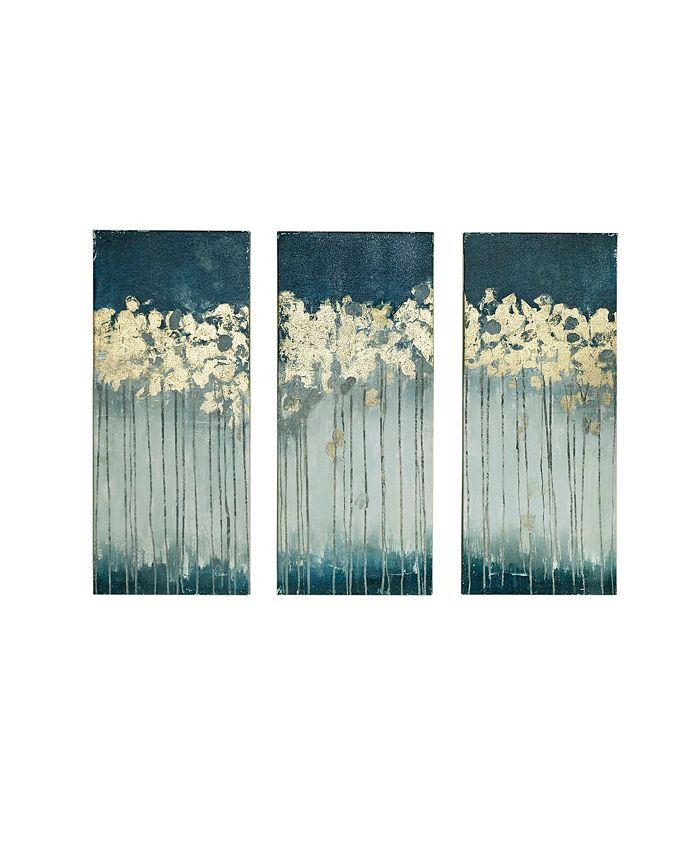 JLA Home - Midnight Forest 3-Pc. Gel/Foil-Embellished Canvas Print Set