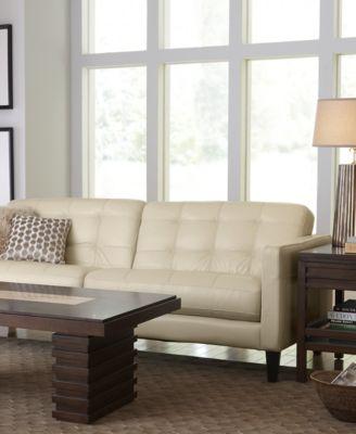 Milan Leather Sofa Furniture Macy 39 S