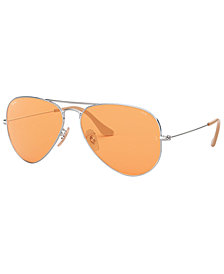Ray-Ban Sunglasses, RB3025 55 AVIATOR LARGE METAL