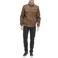 Deals on Levis Mens Sherpa Lined Faux Leather Aviator Bomber