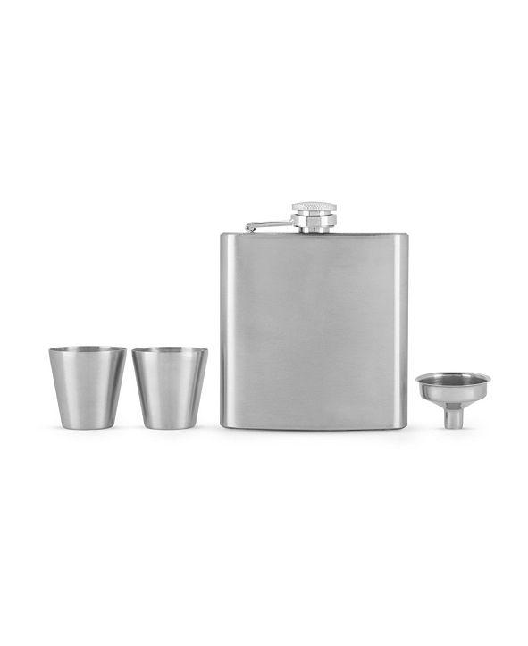 True Fiasco Flask and Shot Glass Gift Set- Set of 4