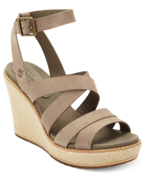 Timberland Womens Shoes Danforth Platform Wedge Sandals Womens Shoes