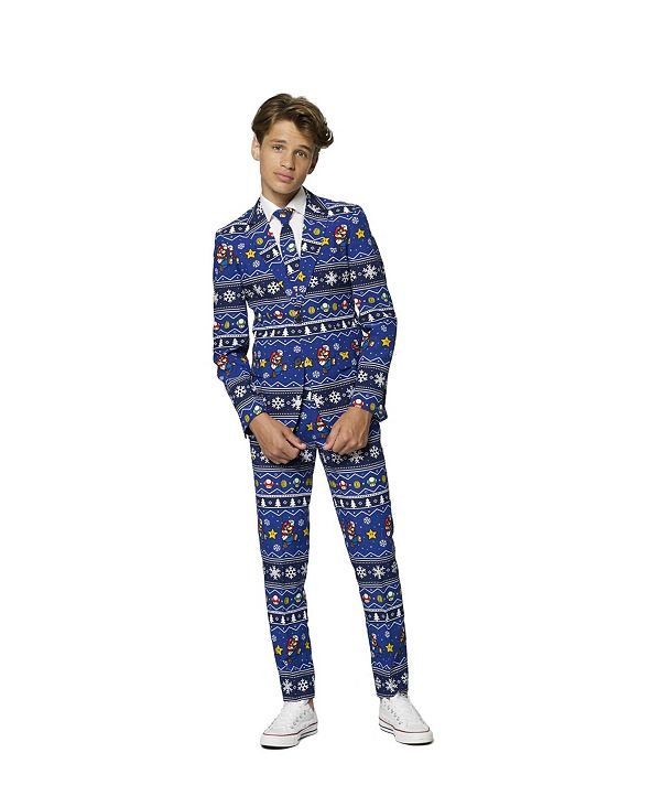 OppoSuits Big Boys Merry Mario Christmas Suit