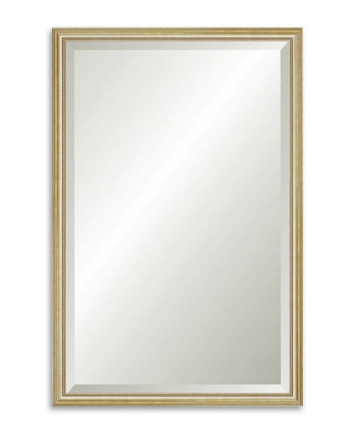 Reveal Frame & Décor - Delicate Gold Leaf Beveled Wall Mirror