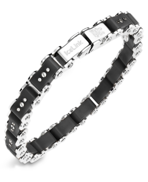 IceLink - Stainless Steel Bracelet, Medium Black Bicycle Bracelet