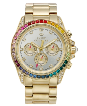 Juicy Couture Watch, Women's Stella Gold Tone Stainless Steel Bracelet 40mm 1901038