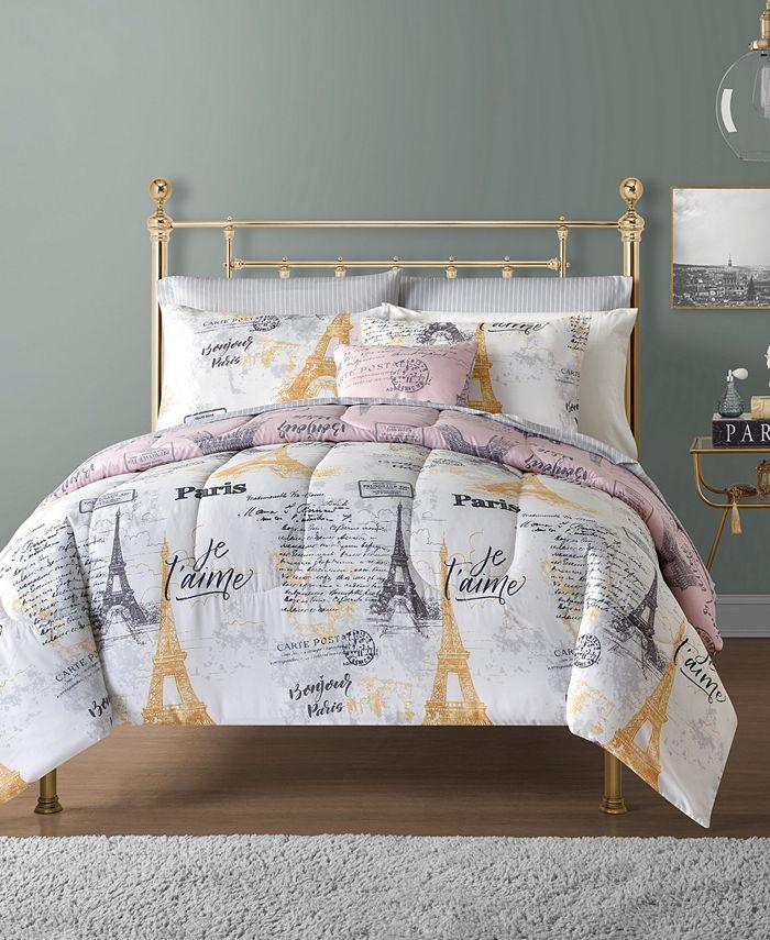Sunham - Paris 12-Pc. Reversible Comforter Sets