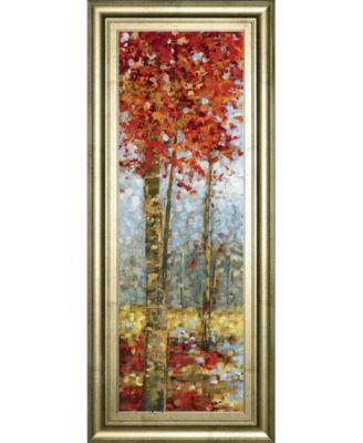 """Crimson Woods I by Carmen Dolce Framed Print Wall Art, 18"""" x 42"""""""
