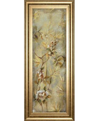 "Bamboo Floral II by Georgie Framed Print Wall Art, 18"" x 42"""