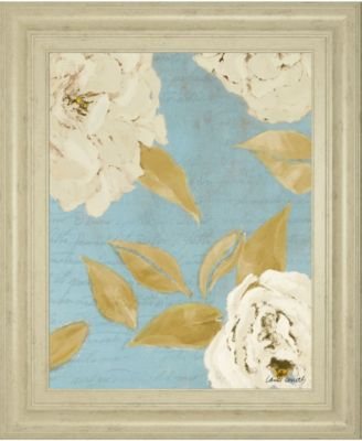 "Scripted Poetic Peonies I by Lanie Loreth Framed Print Wall Art, 22"" x 26"""