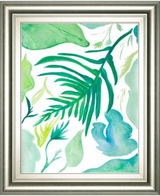 "Green Water Leaves I by Kat Papa Framed Print Wall Art, 22"" x 26"""