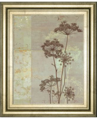 """Silver Foliage I by Ella K. Framed Print Wall Art, 22"""" x 26"""""""