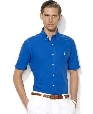 Polo ralph lauren short sleeve shirt classic fit short for Polo ralph lauren casual button down shirts