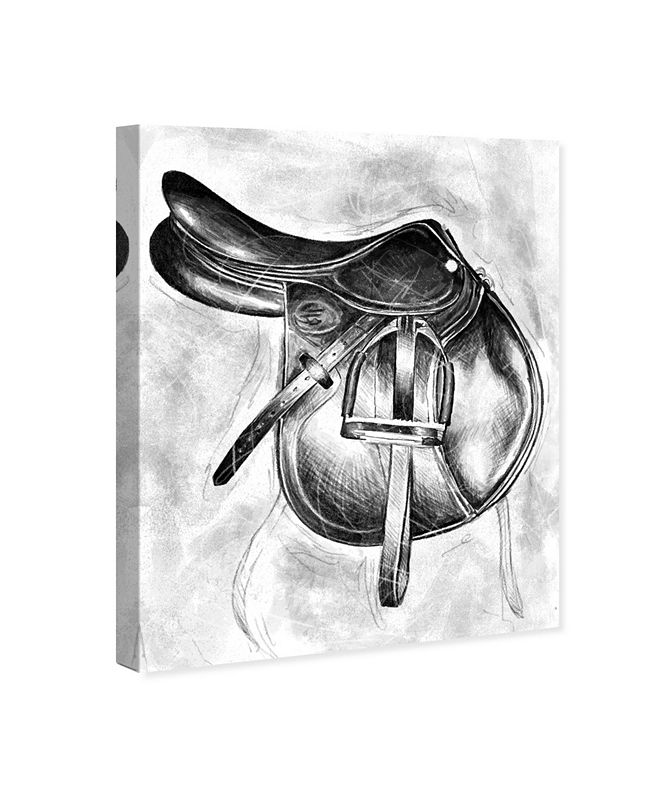 """Oliver Gal Jumping Saddle Canvas Art, 17"""" x 20"""""""
