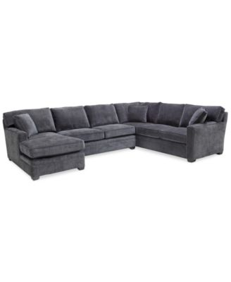 Brekton 3-Pc. Fabric Sofa Return with Chaise