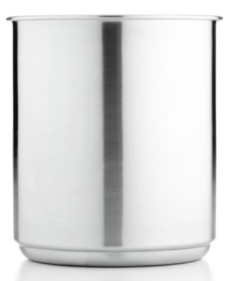 Martha Stewart Collection Stainless Steel Utensil Crock