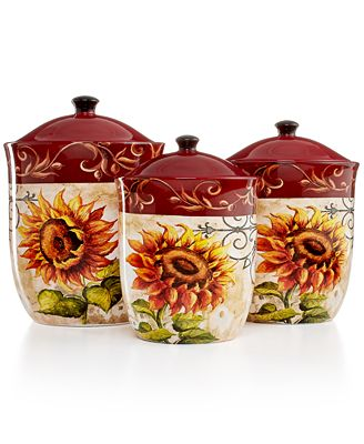 Certified International Serveware, Tuscan Sunflower 3-Piece