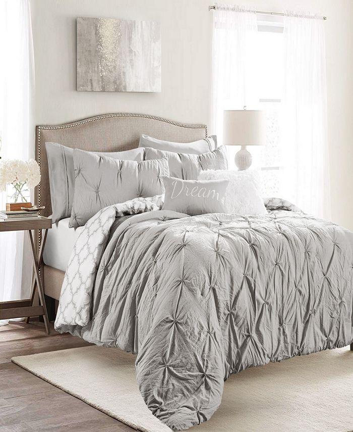 Lush Décor - Ravello Pintuck Caroline Geo 7Pc King Comforter Set