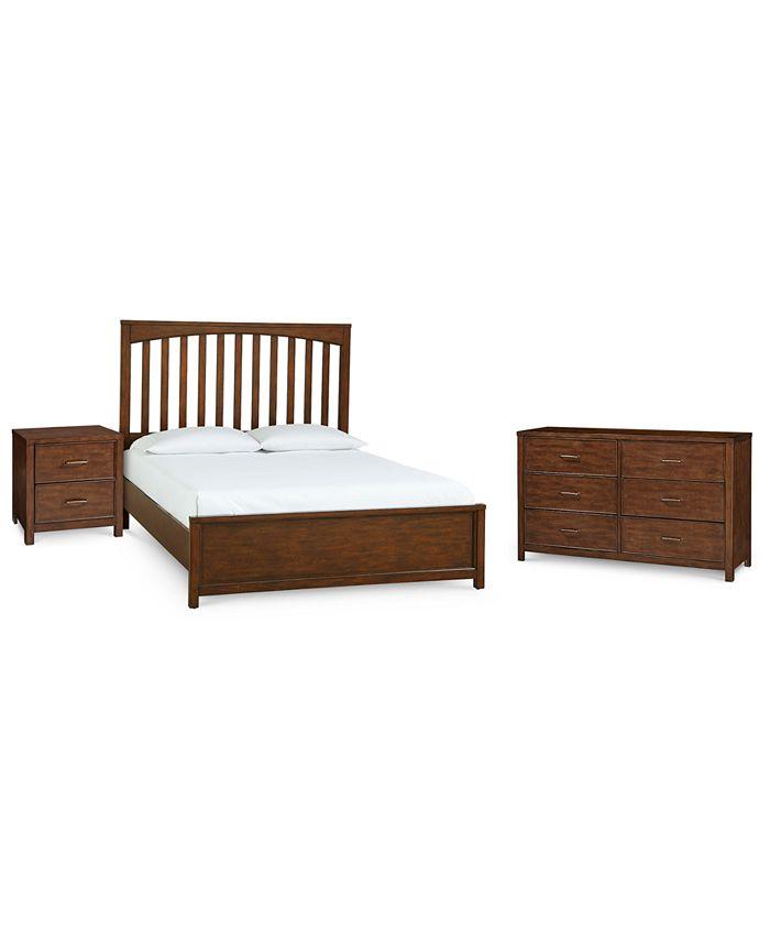 Furniture - Ashford Cinnamon Bedroom , 3-Pc. Set (Full Bed, Nightstand & Dresser)