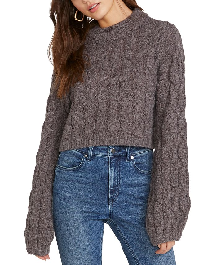 Volcom - Knits Up Cable-Knit Cropped Sweater