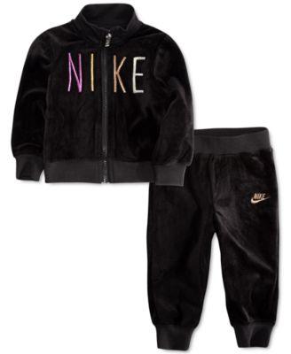 Nike Baby Girls 2-Pc. Shine Velour