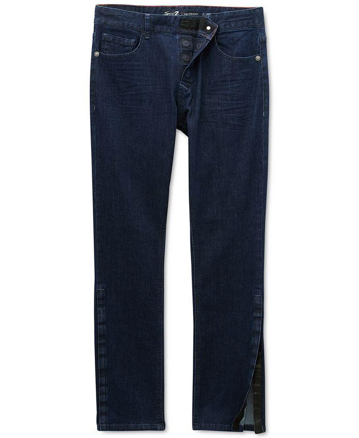 Seven7 - Men's Vouvant Adaptive Slim-Straight Fit Power Stretch Textured Jeans