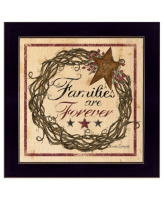 Families are Forever by Linda Spivey, Ready to hang Framed print, White Frame, 12