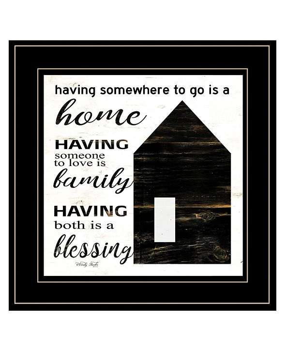 "Trendy Decor 4U A Blessing by Cindy Jacobs, Ready to hang Framed Print, Black Frame, 15"" x 15"""